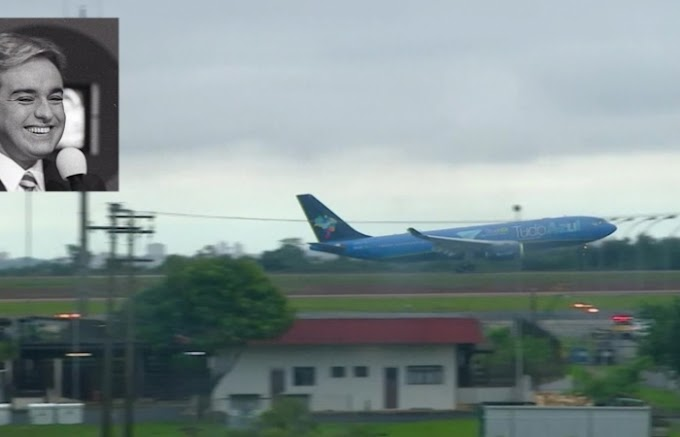 NESTA QUINTA: Corpo de Gugu Liberato chega ao Aeroporto de Viracopos para velório em São Paulo.
