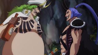 ワンピースアニメ 989話 | 傳ジロー 百獣海賊団 飛び六胞 ササキ SASAKI  | ONE PIECE Beasts Pirates Tobiroppo