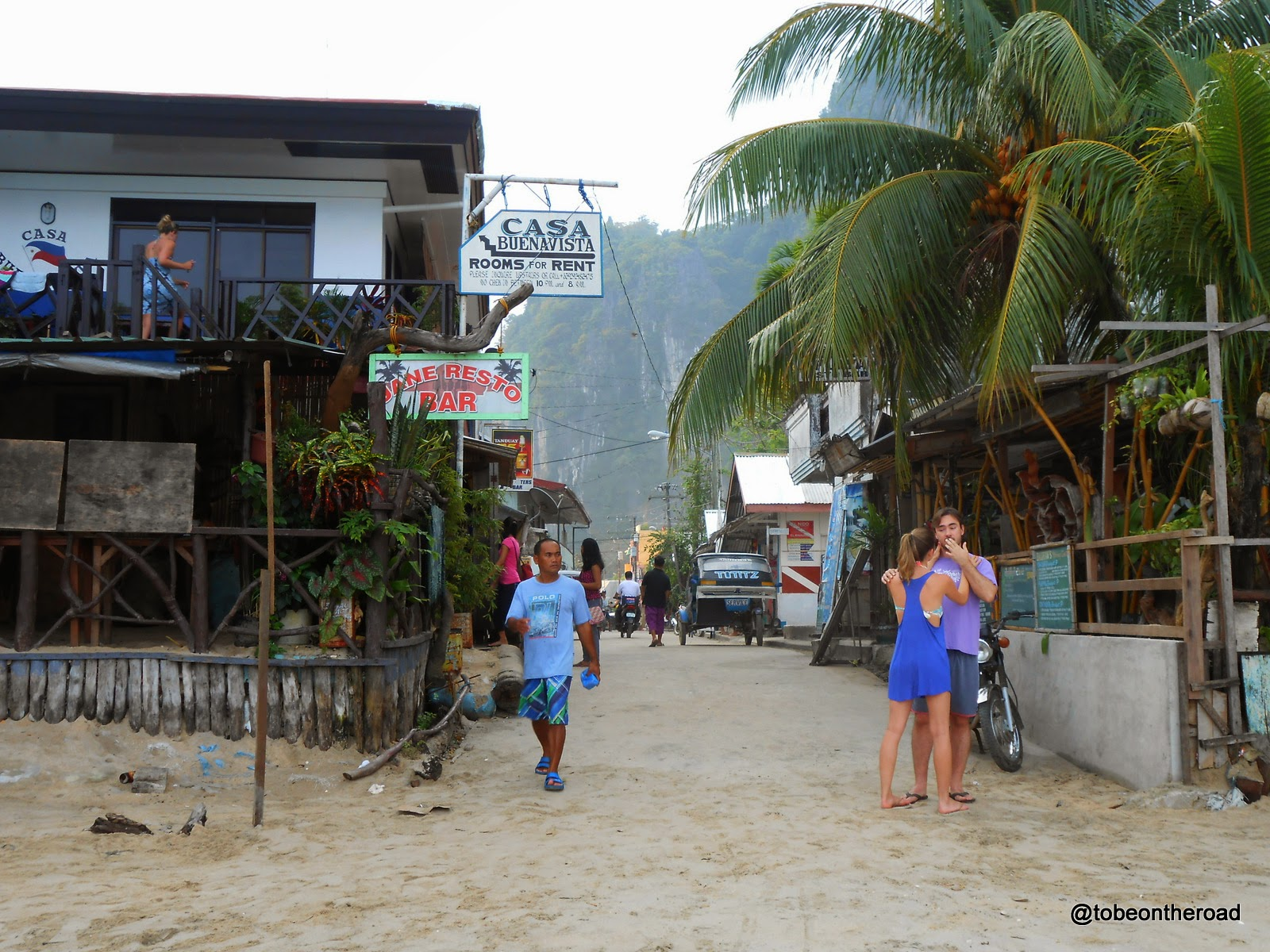 Beach Walk, El Nido, Philippines, Hotels, Pension Houses,