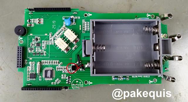 Multímetro Mustool MDS8207 PCB