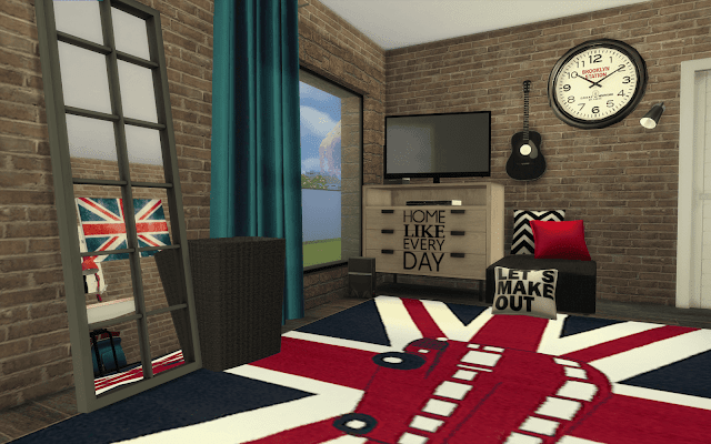 chambre londres Sims 4