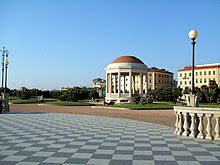 Livorno's elegant Terrazza Mascagni is an attraction of the Tuscan port