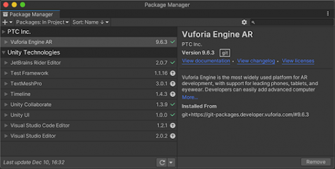 Getting Started with Vuforia Engine in Unity with Augmented Reality (AR)