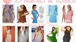 20 Patrones de Vestidos Tejidos - Colección de los viernes