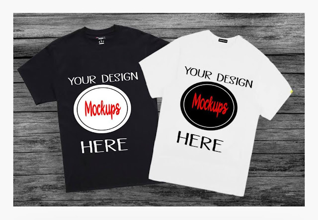 A screenshot of a T shirt design mock up form Design Bundles website.