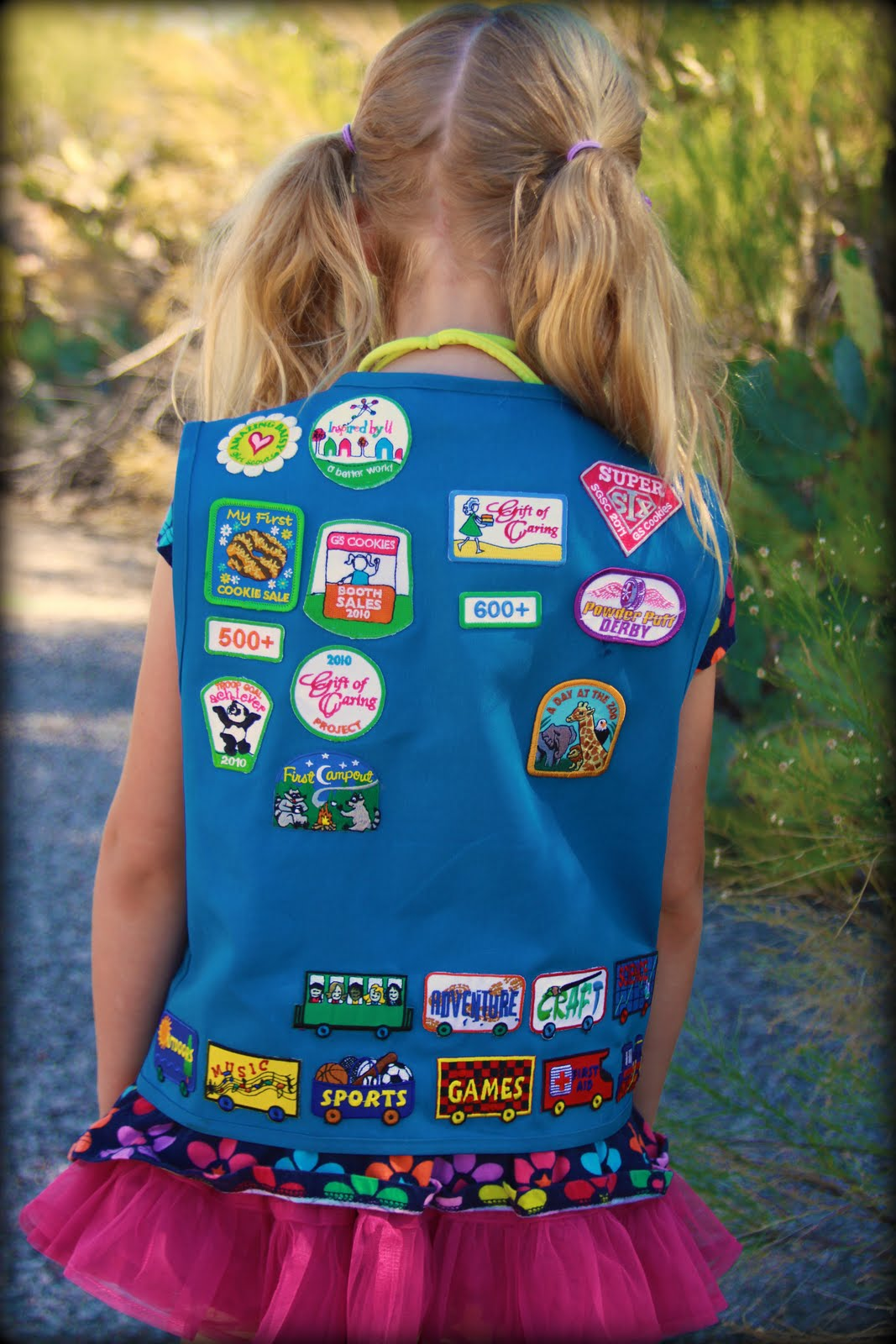 If you run out of room for fun patches on your vest sew a sash to.