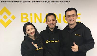 Binance Chain может уронить цену Ethereum до двузначных чисел