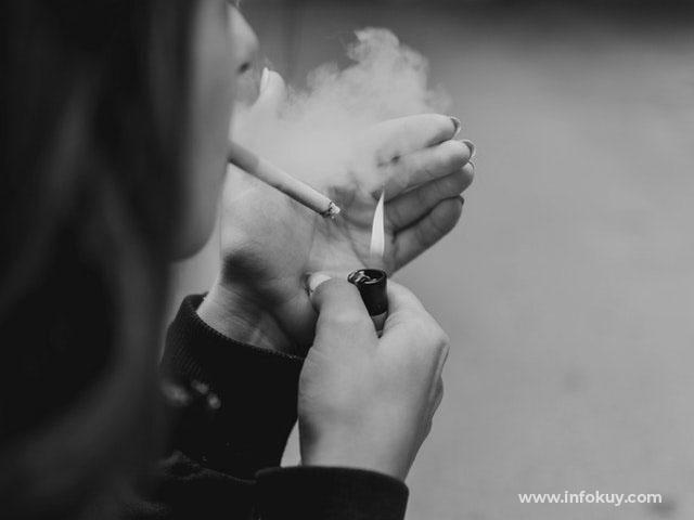 cara diet dan menurunkan berat badan, Merokok