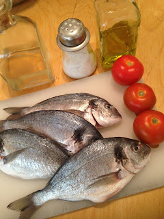 Dorada al horno, ingredientes
