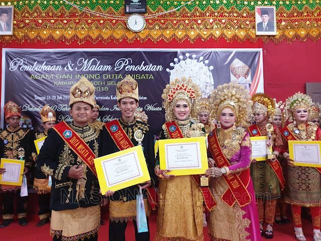 M. Ulya Ifrad dan Nuria Juwita Terpilih sebagai Duta Wisata Aceh Selatan 2019