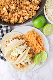 These flavorful skillet fish tacos are a delicious and easy to make thirty minute meal!