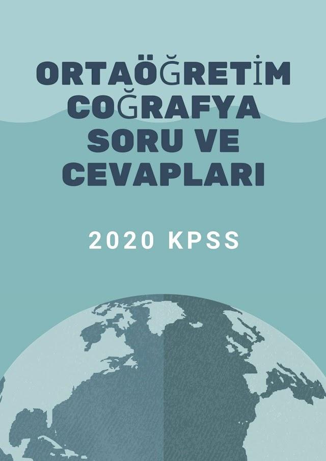 2020 KPSS Ortaöğretim Coğrafya Soru ve Cevapları