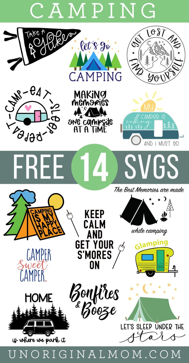 Free Camping Themed Svgs