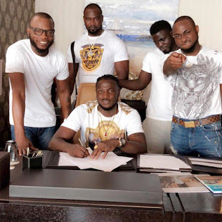 Entertinment: Davido signs Peruzzi to his DMW label