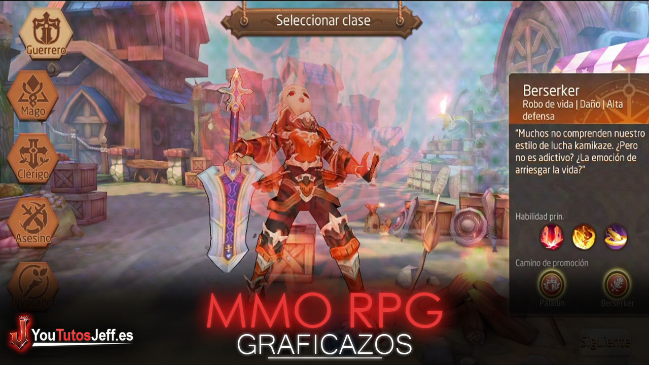 Brutal MMO RPG para Android, Descargar Tales Of Wind Gratis