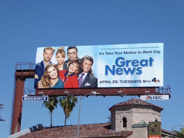 Great News season 1 billboard
