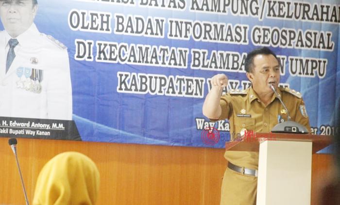 Ciptakan Tertib Administrasi, Pemkab Waykanan Lakukan Penegasan Batas Kampung-Kabupaten