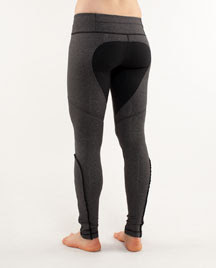 lululemon dressage pant black gray ruffle