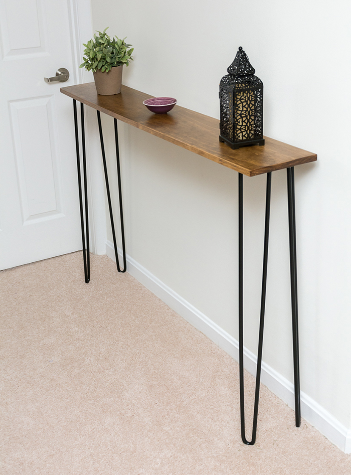 Make A Hairpin Leg Console Table // By Brittany Goldwyn