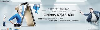 Promo Samsung Galaxy A series 2016 (A3, A5 dan A7) Bonus Powerbank dan Voucher