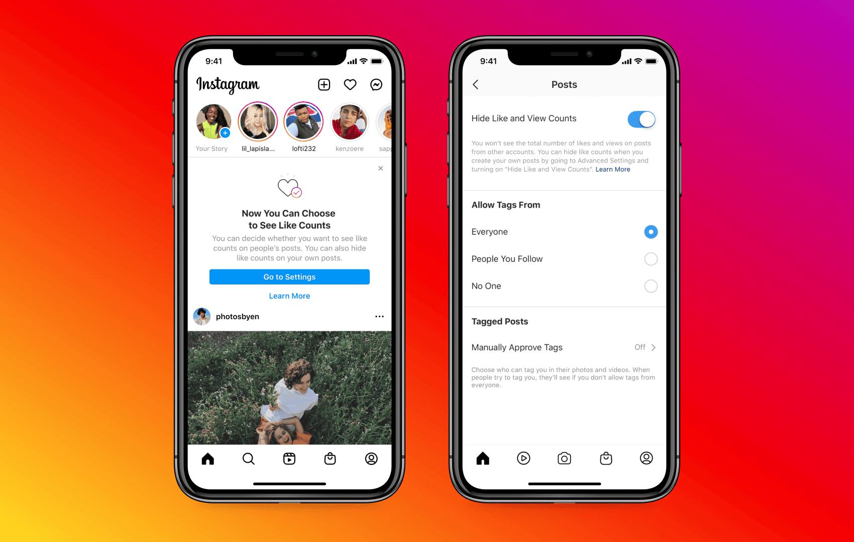 Come nascondere i Mi piace su Facebook e Instagram