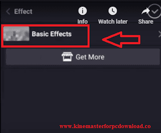 Kinemaster Click Basic Effects Button