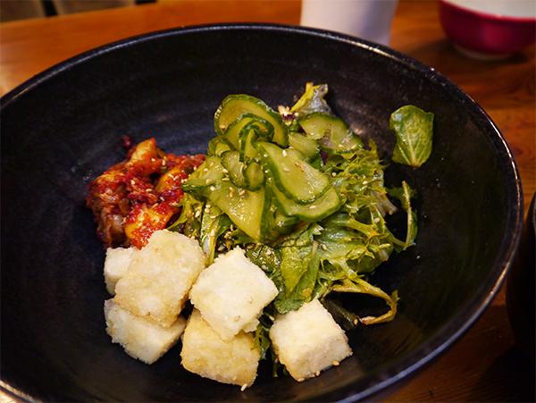 Kimchi salad at Kuma Tofino