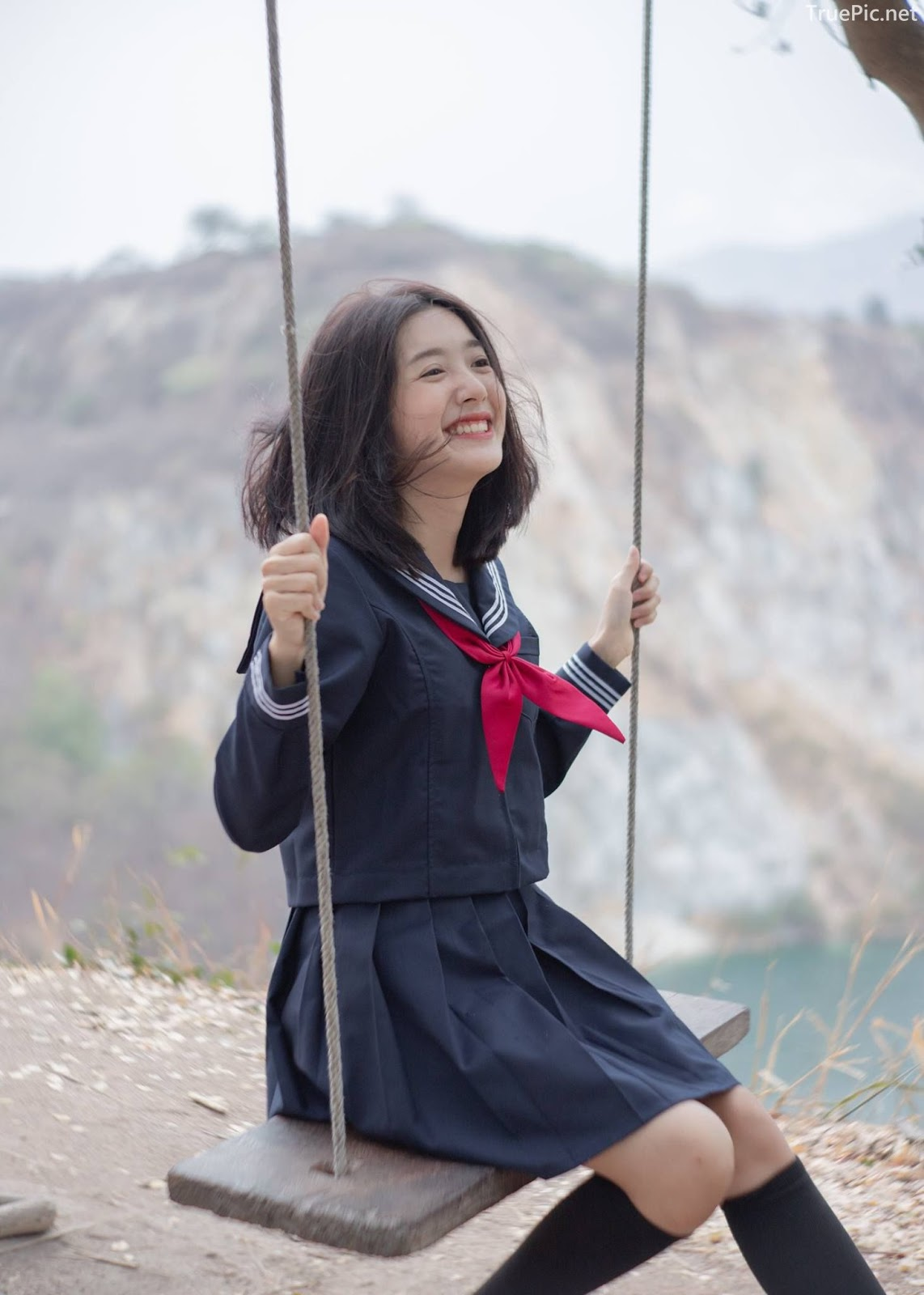 Hot girl Thailand Purewarin Kosiriwalanon - Cosplay Little Playful School Girl - Picture 19