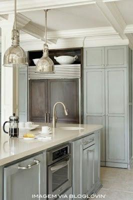 cozinha clássica com ilha