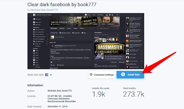 تغيير شكل فيسبوك إلى مظهر جديدة مختلف