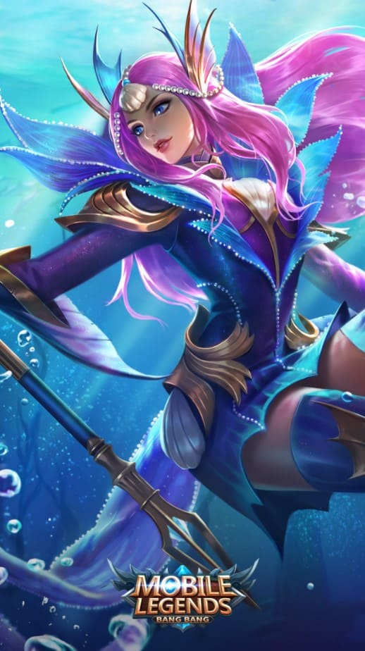 Wallpaper Odette Mermaid Princess Skin Mobile Legends HD for Android and iOS