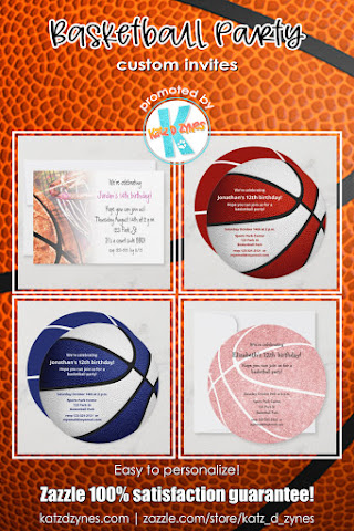 Basketball celebration invites and party supplies by katzdzynes