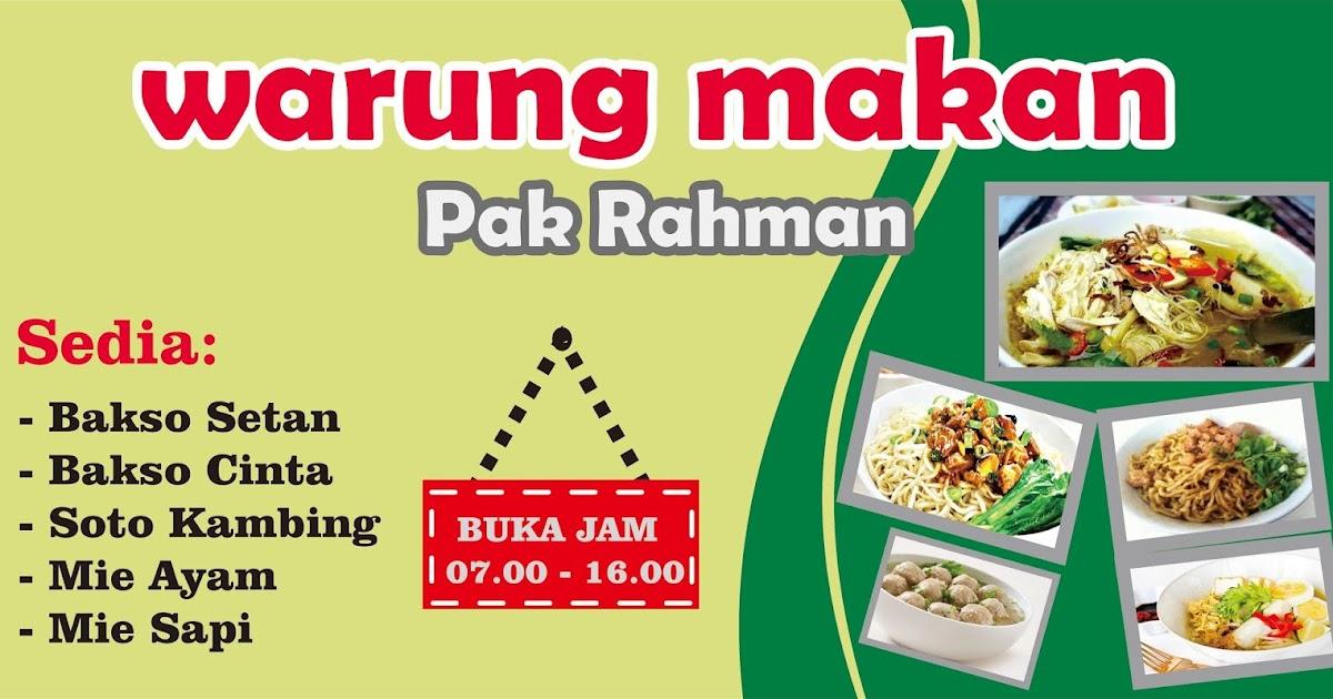 Desain Kreatif: Desain banner warung makan