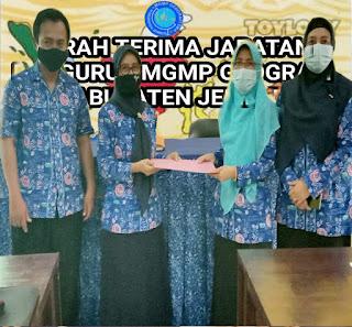 Sertijab Pengurus MGMP Geografi kabupaten Jember Digelar di SMAN 3 Jember