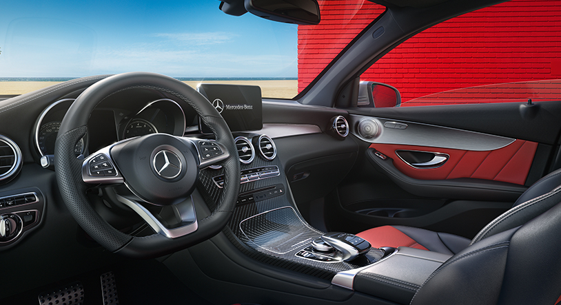 foto interni mercedes glc coupè