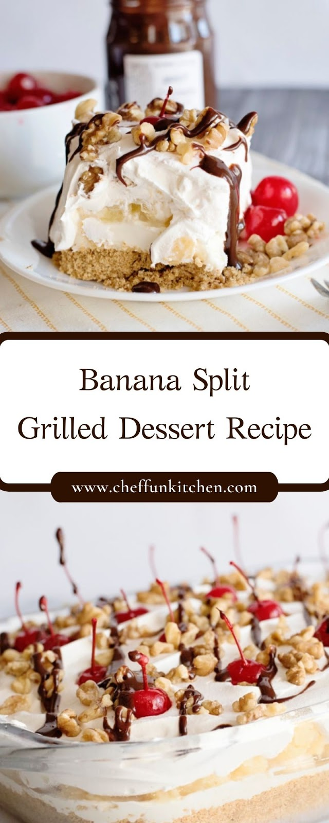 Banana Split Grilled Dessert Recipe