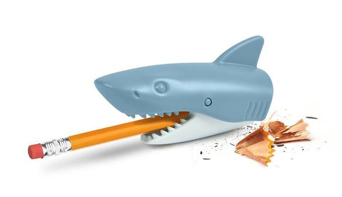 Este es el sacapuntas definitivo, la madre de todos los sacapuntas... el sacapuntas tiburon