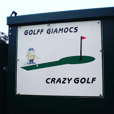 Crazy Golf course in Porthmadog, Wales