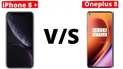 Oneplus 8 vs iPhone 9 Plus Compare, Camera,  Battery, Performance, Display
