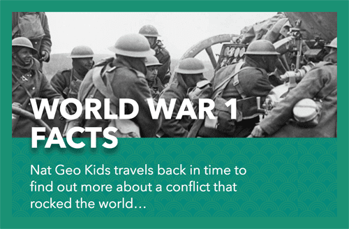 World War 1 facts in Nat Geo Kids