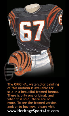 Cincinnati Bengals 1990 uniform