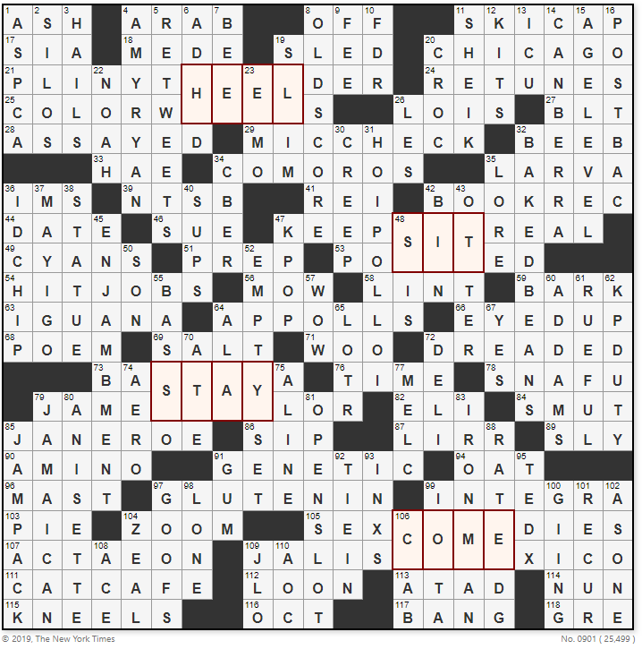 New York Times Sunday September 1 2019 Crossword Puzzle Solutions Clues And Answers