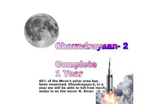 Chandrayaan-2 Complete 1 year