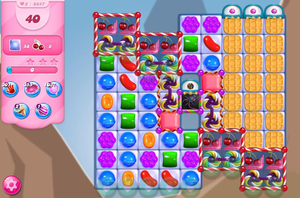 Candy Crush Saga level 8647