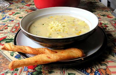 Cheddar & Corn Chowder