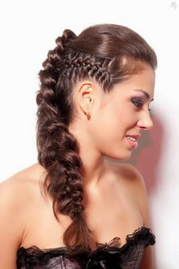Gambar model rambut kepang 5