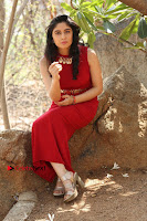 Telugu Actress Zahida Sam Latest Pos in Red Gown at RF Films New Movie Opening  0288.JPG