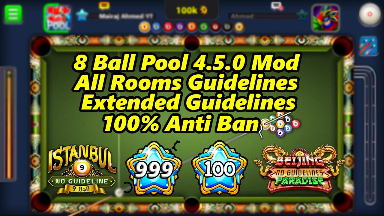 8 Ball Pool 4 5 0 Mod 999 Level - Mairaj Ahmed Mods