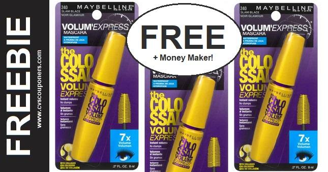 FREE Maybelline Colossal Mascara at CVS 1-26-2-1
