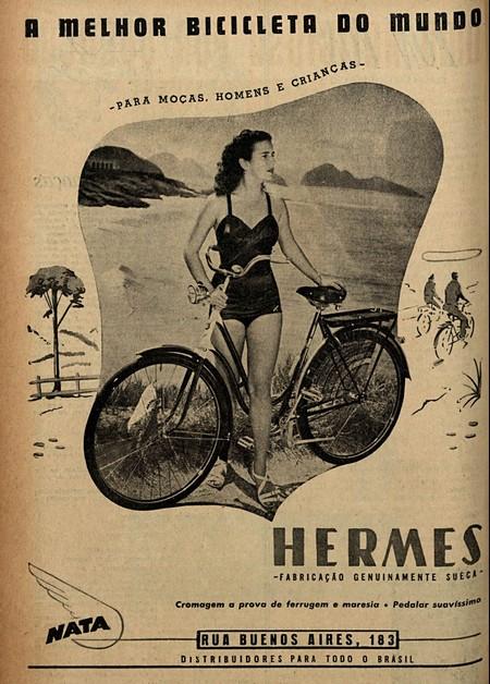 Propaganda antiga da Bicicleta Hermes veiculada no final dos anos 40 com a promessa de ser a melhor bicicleta do mundo
